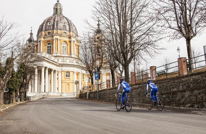 Arrival Basilica di Superga race bike Tour