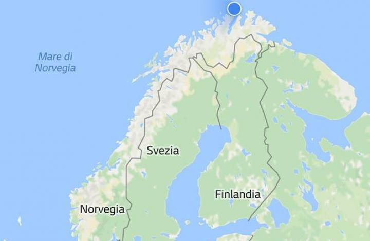 Cartina Geografica Norvegia Fisica.In Giroola In Moto Fino A Caponord Giroola